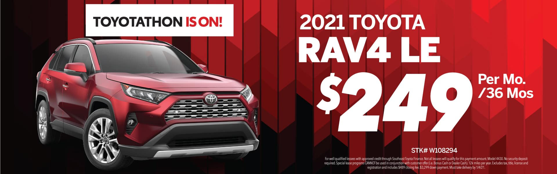 2021 Toyota RAV4 Lease Deal