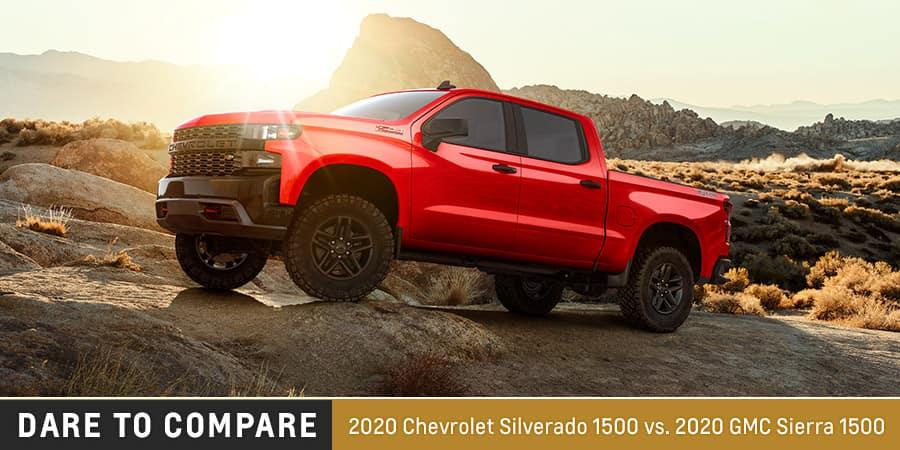 2020 Chevrolet Silverado 1500 vs. 2020 GMC Sierra 1500  - El Dorado Chevrolet in McKinney, Texas