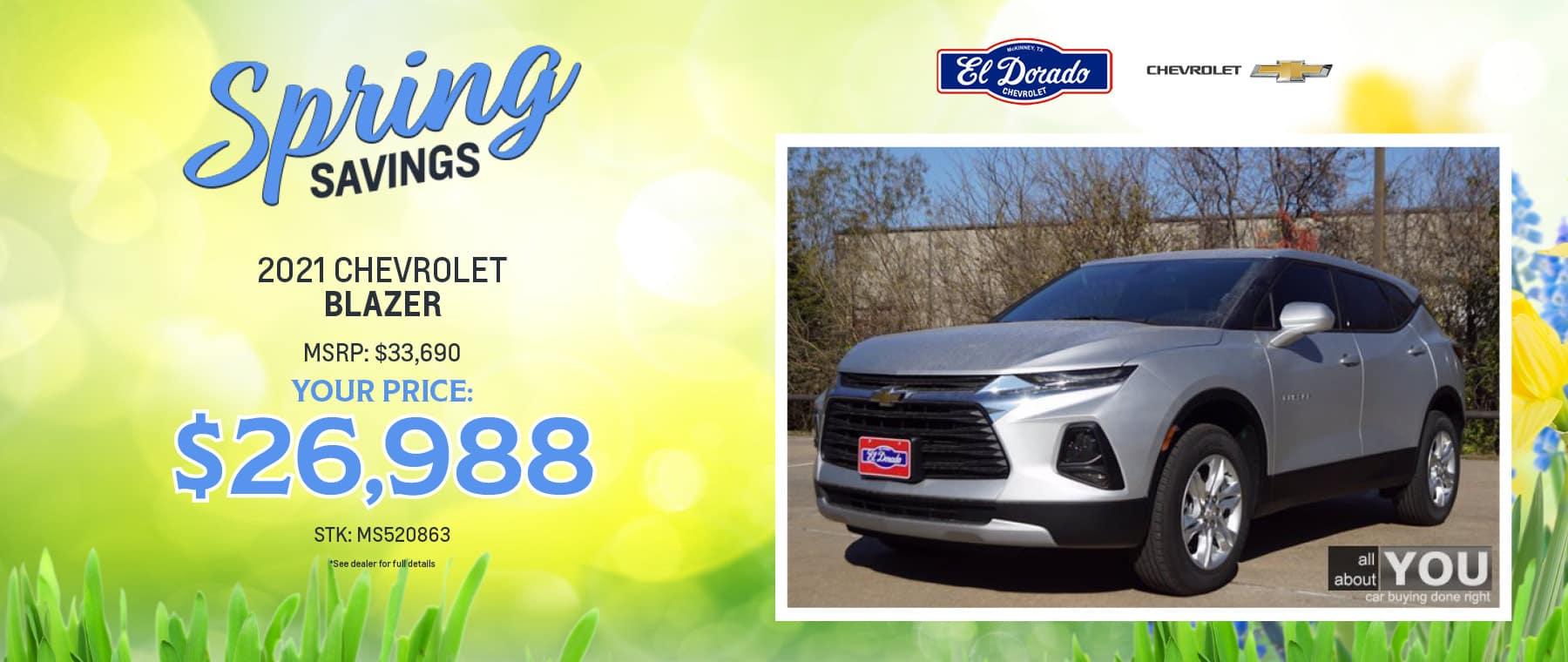 2021 Chevrolet Blazer Offer - El Dorado Chevrolet in McKinney, Texas