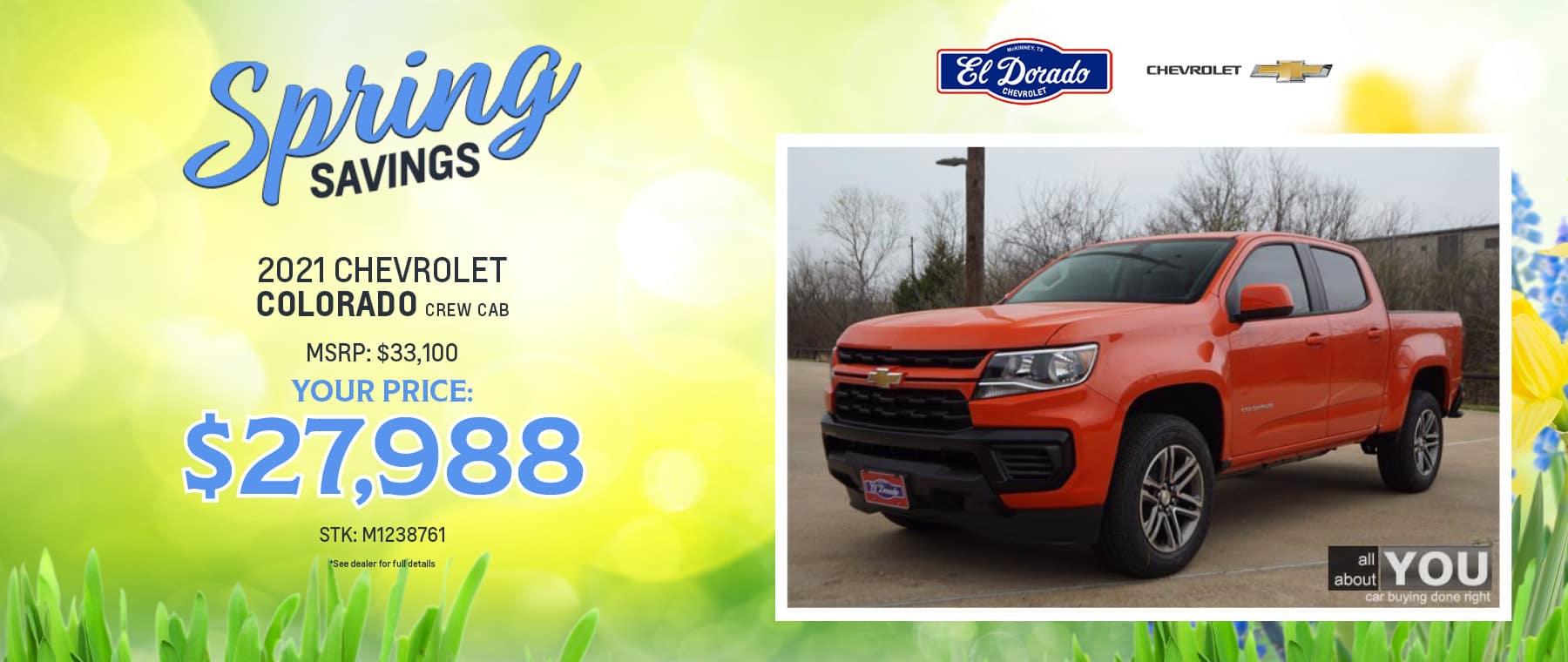 2021 Chevrolet Colorado Crew Cab Offer - El Dorado Chevrolet in McKinney, Texas