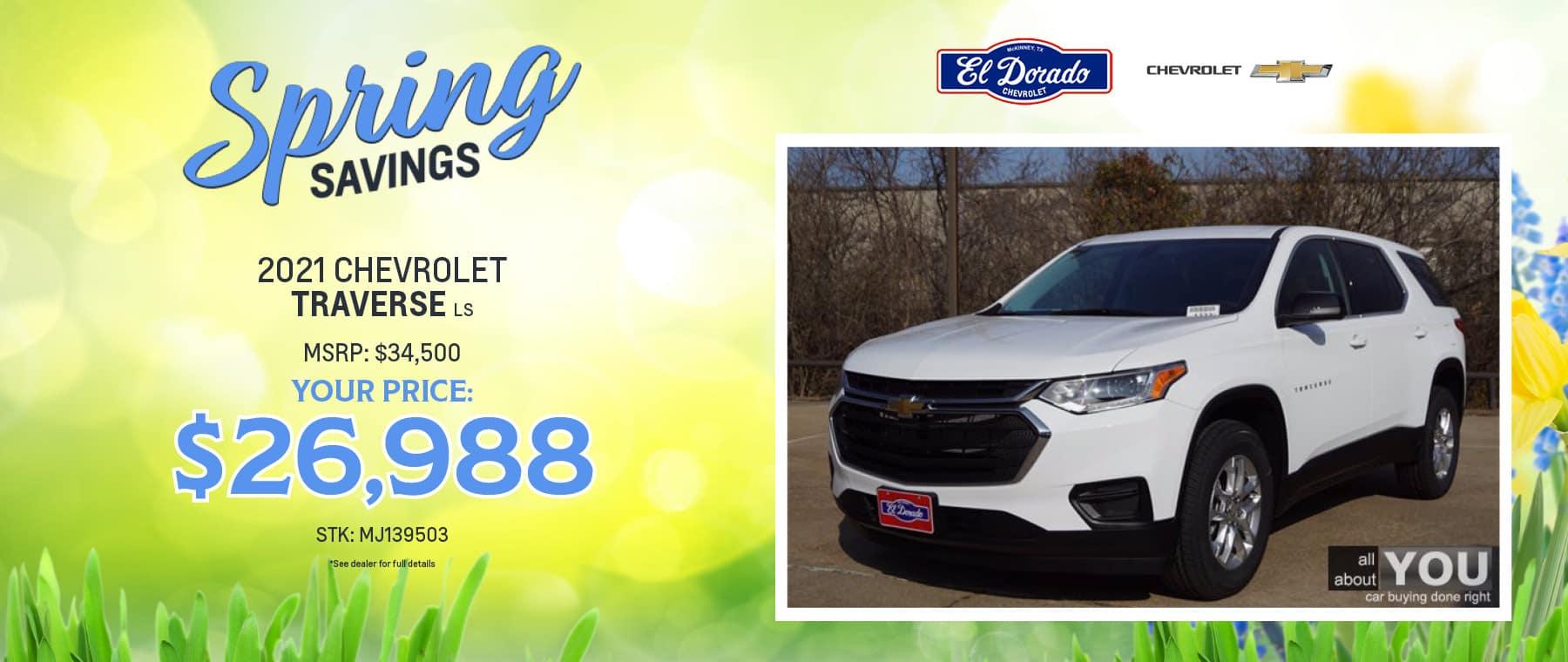 2021 Chevrolet Traverse LS Offer - El Dorado Chevrolet in McKinney, Texas