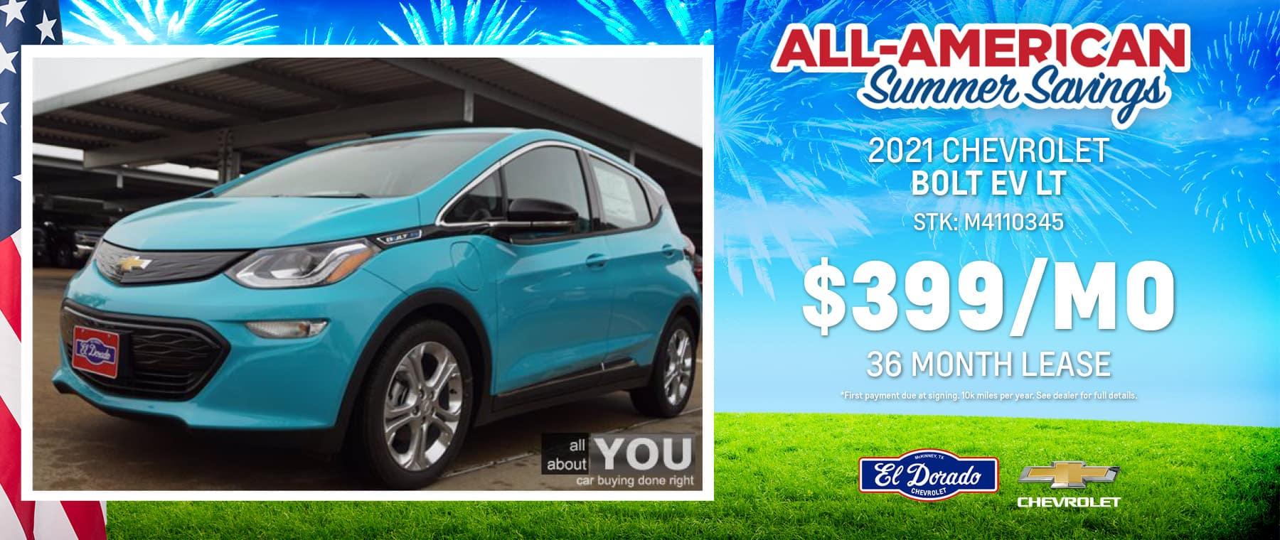 2021 Chevrolet Bolt EV LT - El Dorado Chevrolet in McKinney, Texas
