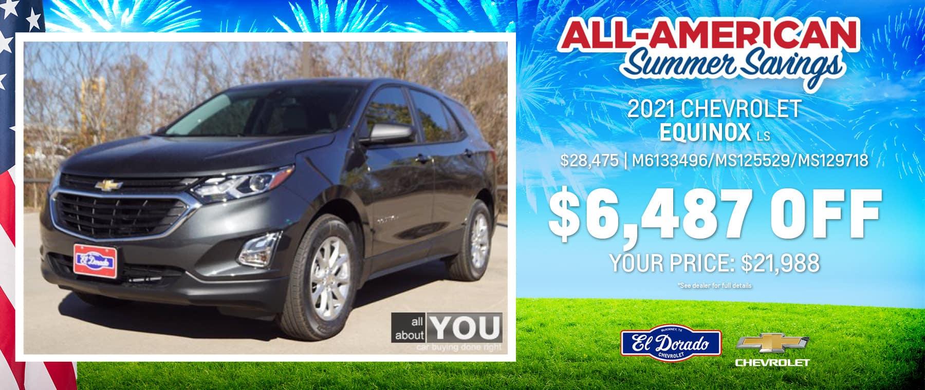 2021 Chevrolet Equinox LS - El Dorado Chevrolet in McKinney, Texas