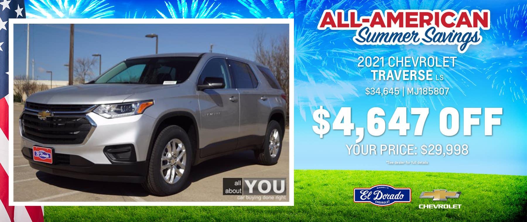 2021 Chevrolet Traverse LS - El Dorado Chevrolet in McKinney, Texas