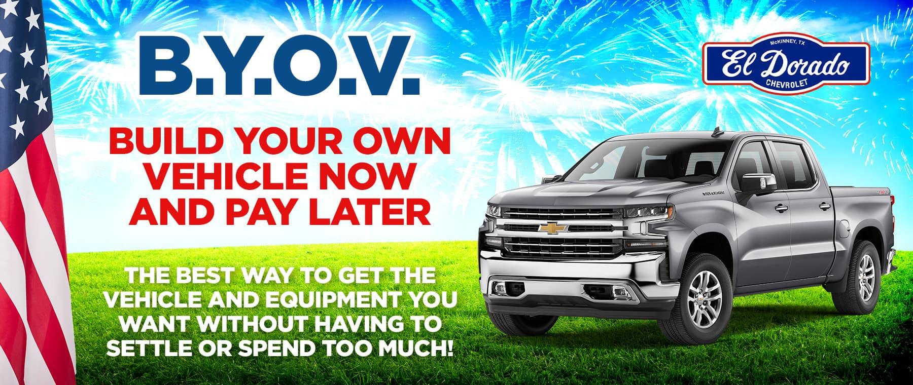 Build Your Own Vehicle - El Dorado Chevrolet in McKinney, Texas