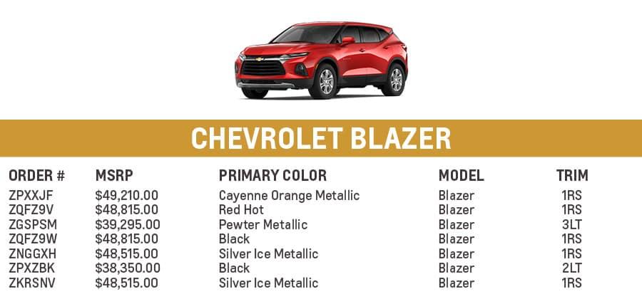 Chevrolet Blazer | El Dorado Chevrolet in McKinney, Texas
