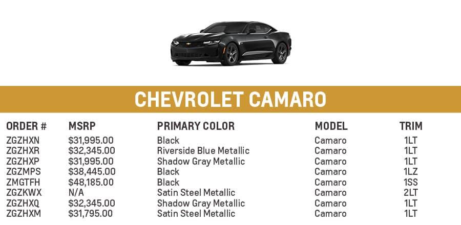 Chevrolet Camaro | El Dorado Chevrolet in McKinney, Texas