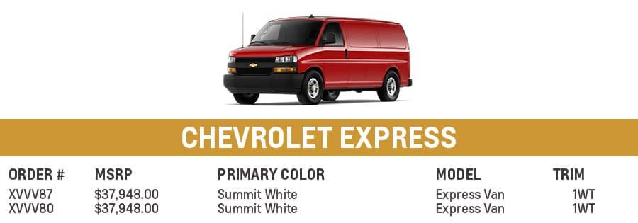 Chevrolet Express | El Dorado Chevrolet in McKinney, Texas
