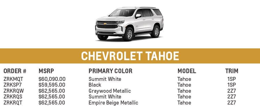 Chevrolet Tahoe | El Dorado Chevrolet in McKinney, Texas