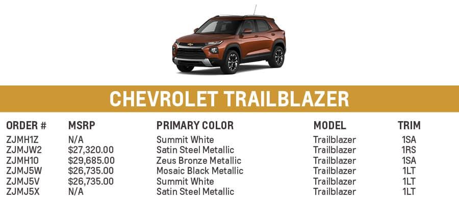 Chevrolet Trailblazer | El Dorado Chevrolet in McKinney, Texas