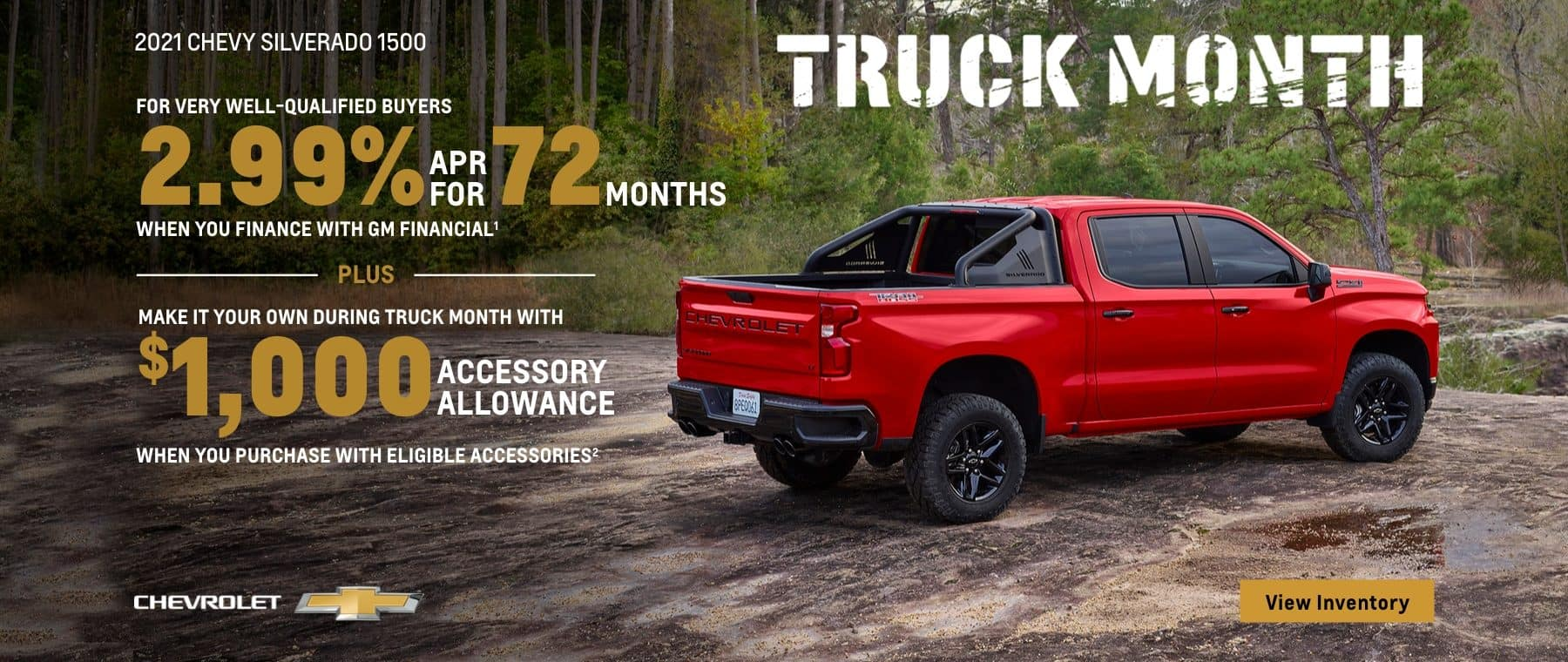 Truck Month, 2021 Chevy SIlverado 2.99% APR for 72 months