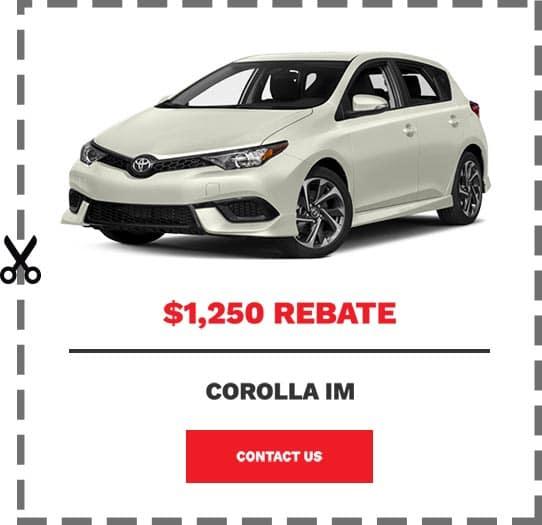 Corolla iM Coupon Clip