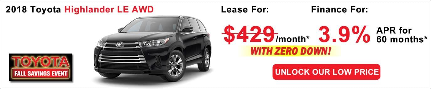 New Toyota Highlander Lease Deals Boston MA Toyota Deals - Acura lease deals ma