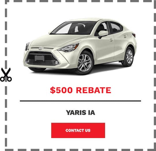 Yaris iA Coupon Clip