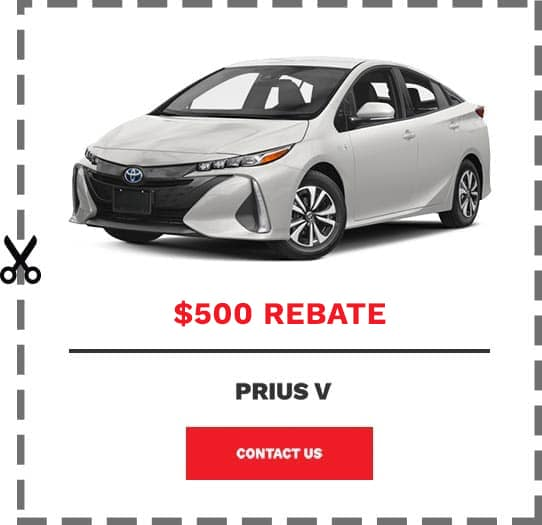 Prius V Coupon Clip
