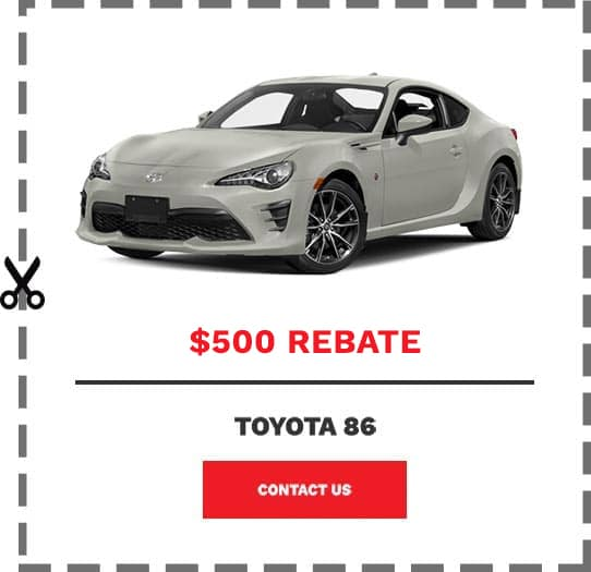 Toyota 86 Coupon Clip