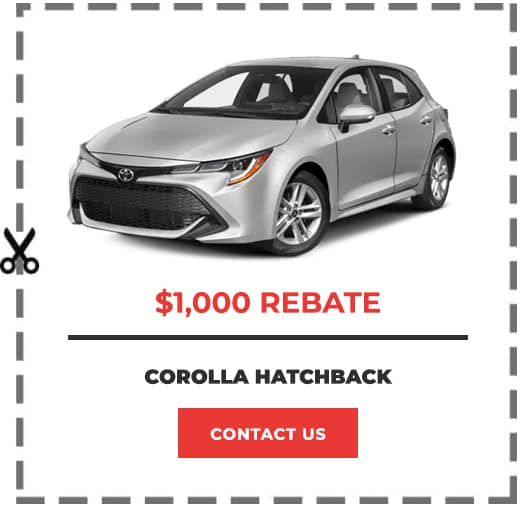 Corolla Hatchback Coupon Clip