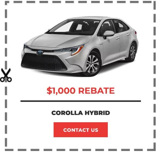 Corolla Hybrid Coupon Clip