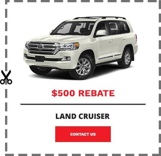Land Cruiser Coupon Clip