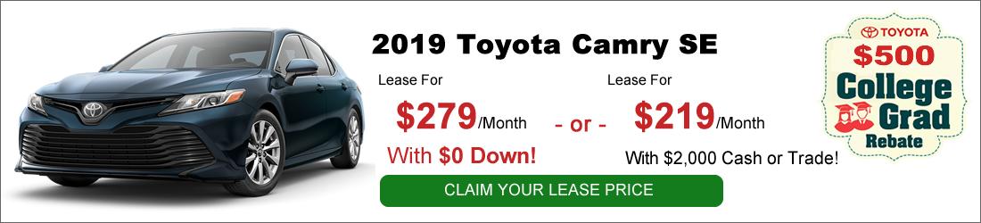 Toyota Finance Deals >> Toyota College Graduate Lease Deals Expressway Toyota In