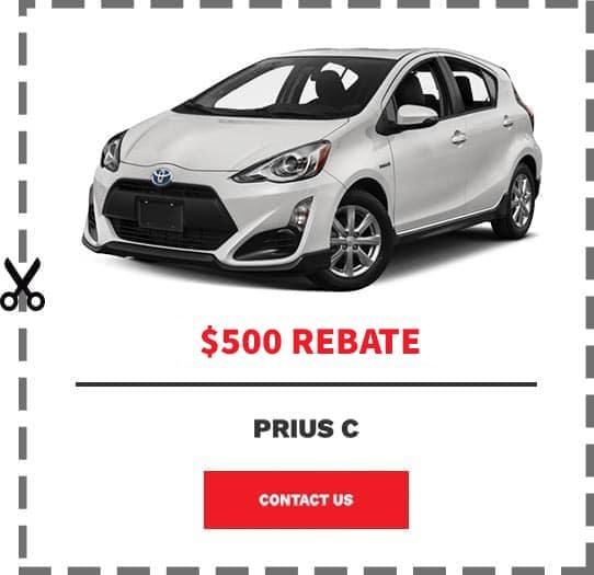Prius C Coupon Clip