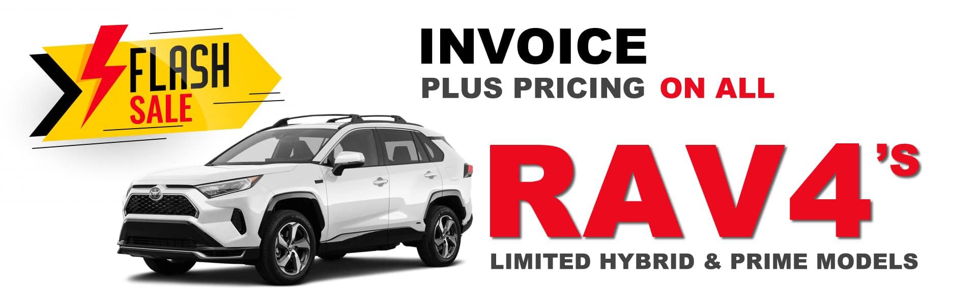 RAV4 Invoice Plus Pricing