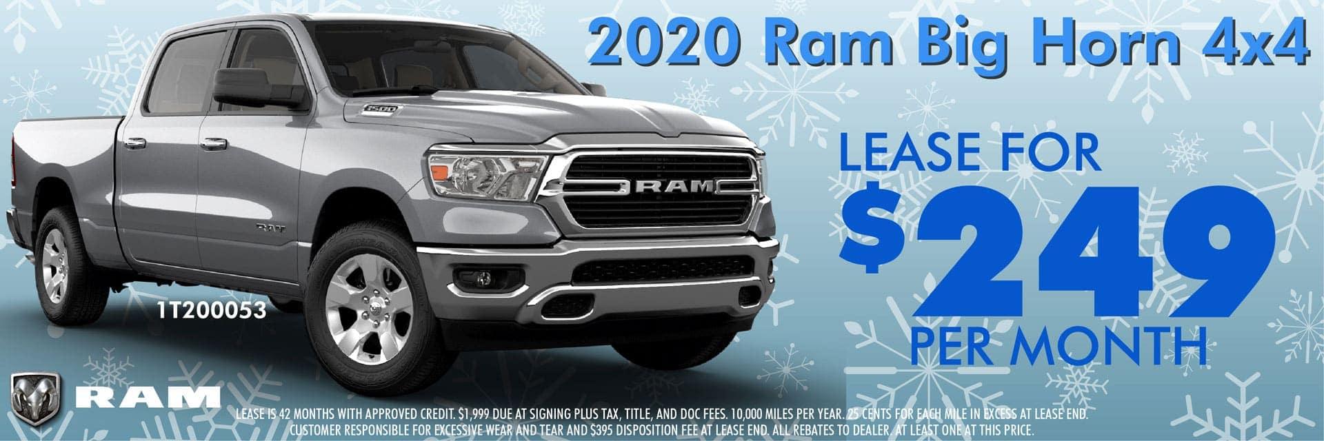 2020 Ram Big Horn 4X4