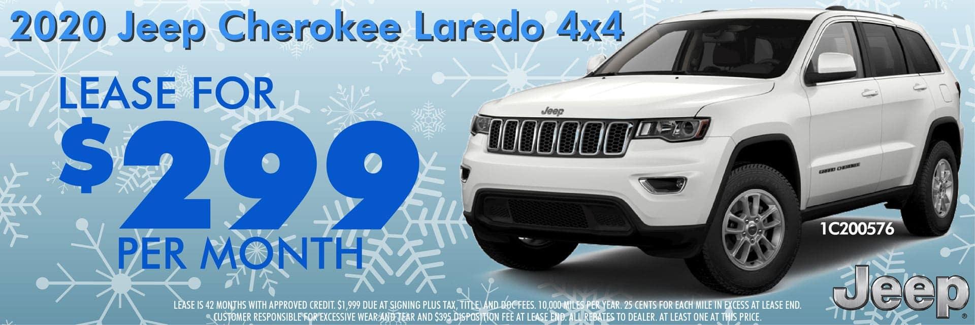 2020 Jeep Cherokee Laredo 4X4