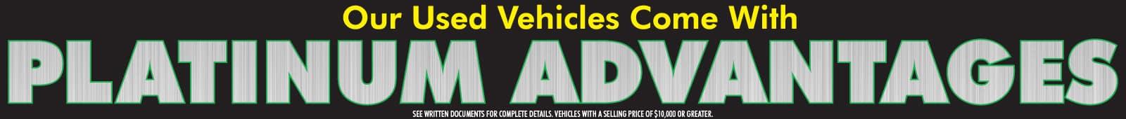 Used Car Platinum Advantages