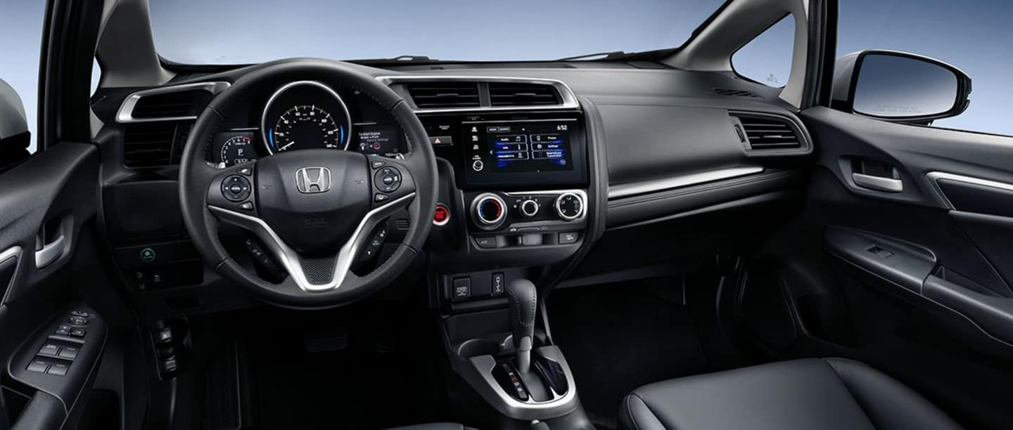 2018 Honda Fit Black Interior