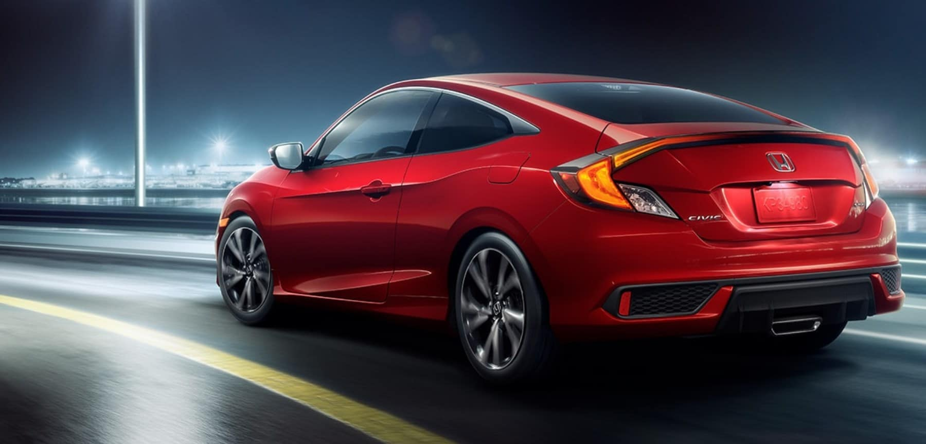 2020 Honda Civic Rear View Red Exterior Picture