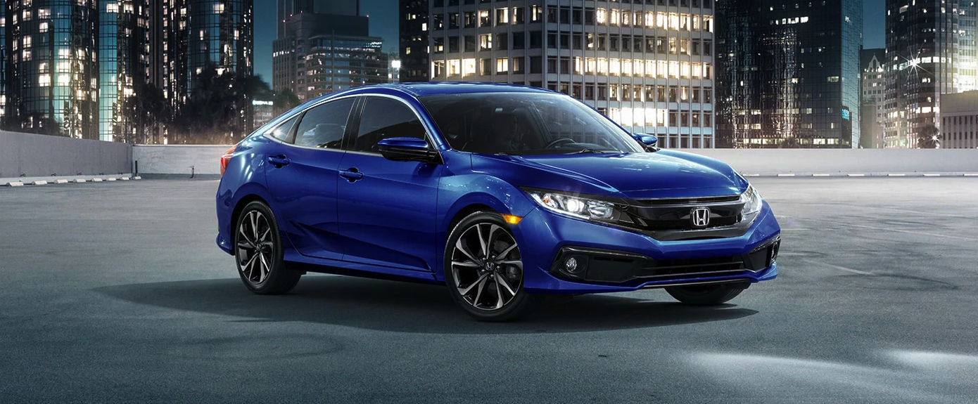 2020 Honda Civic Sedan Blue Exterior