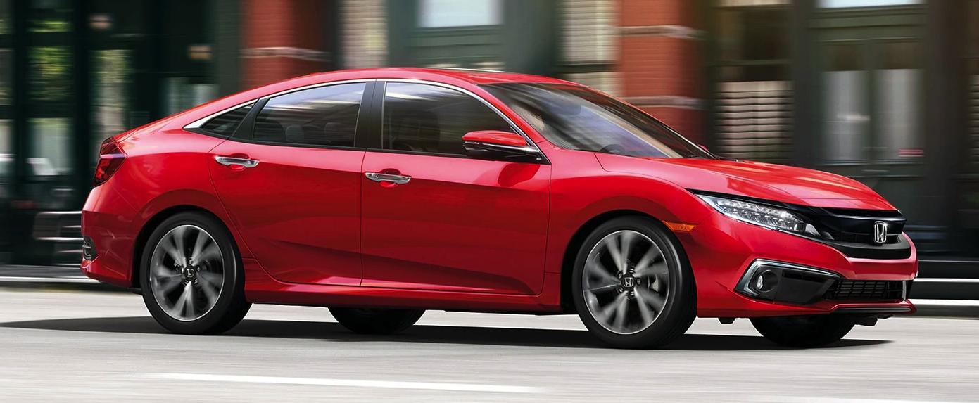 2020 Honda Civic Sedan Red Exterior