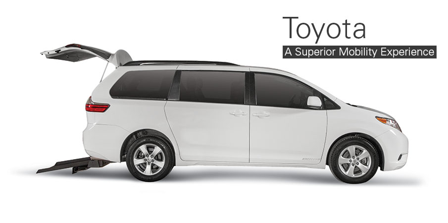 Wheelchair and handicap accessible vans vehicle options for Toyota motor company usa