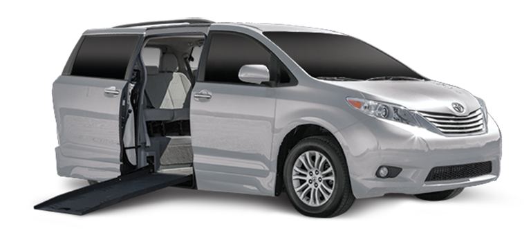 Silver Minivan with Door open