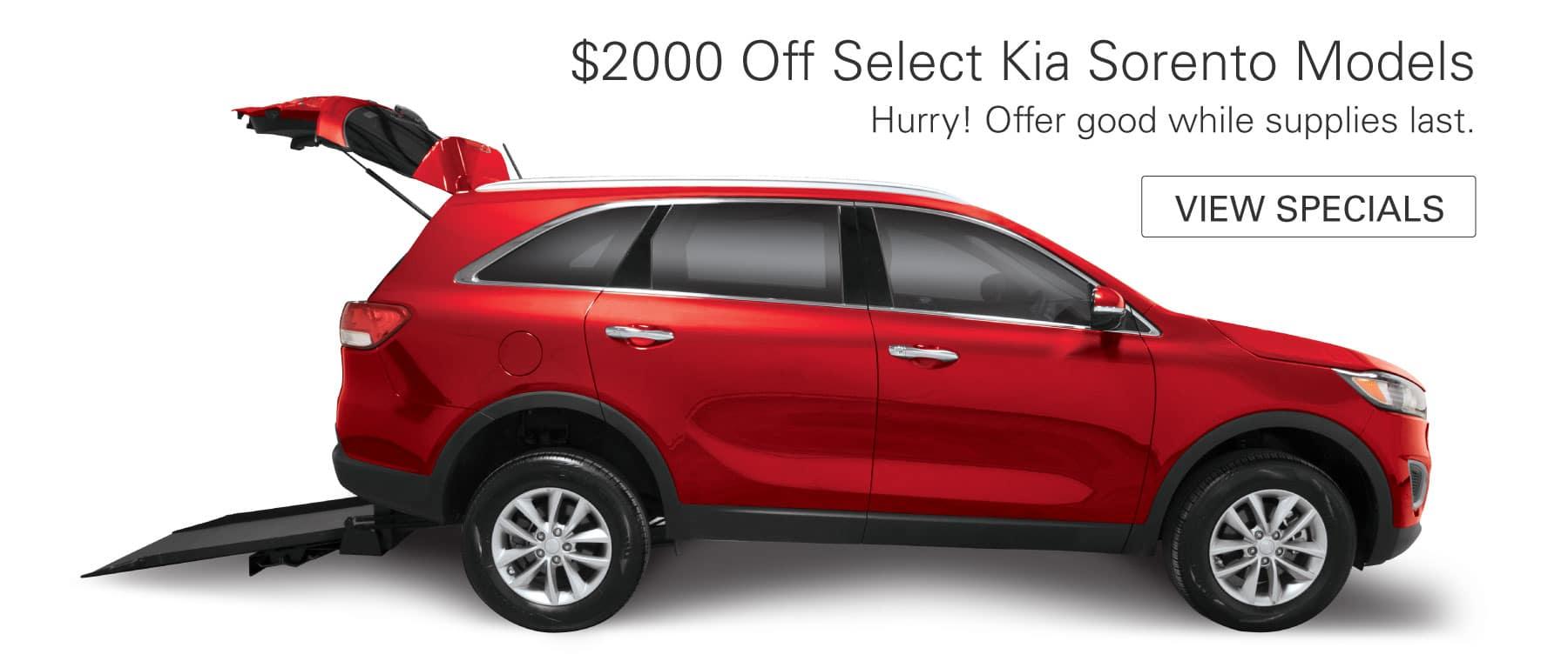 $2000 Off Select Kia Sorento Models