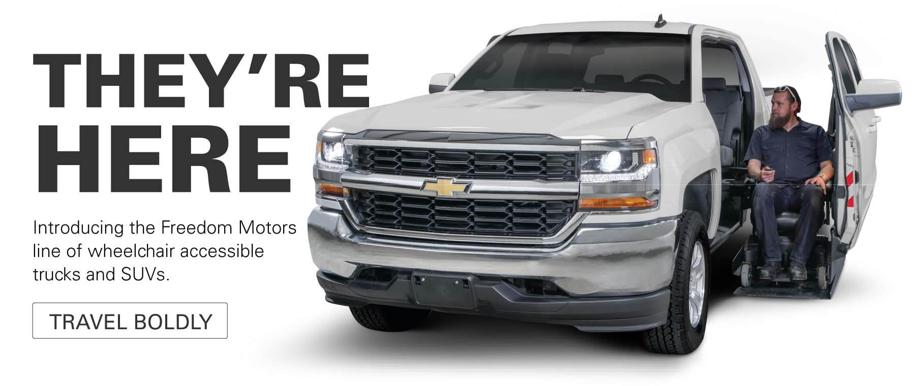 Introducing the new Freedom Motors wheelchair accessible truck and full size SUV line!