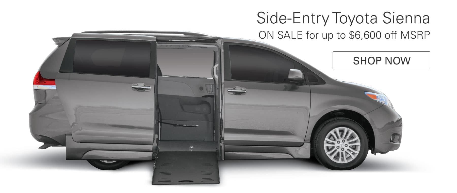 Side-Entry Toyota Sienna on Sale for up to $6,600 off MSRP