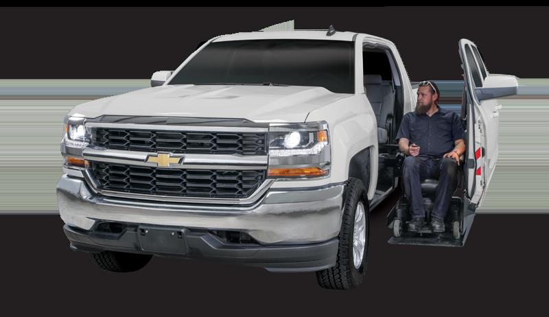 Wheelchair Lift on Chevy Silverado