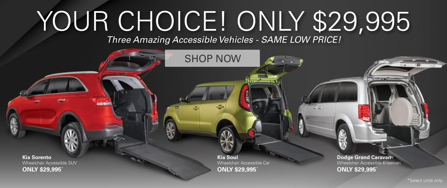 Your Choice - Only $29,995