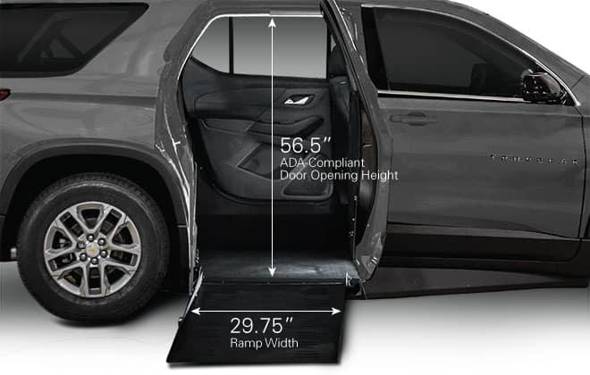Chevrolet Traverse Door and Ramp Measurements