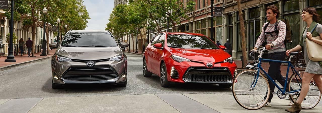 2018 Toyota Corolla LE and XSE