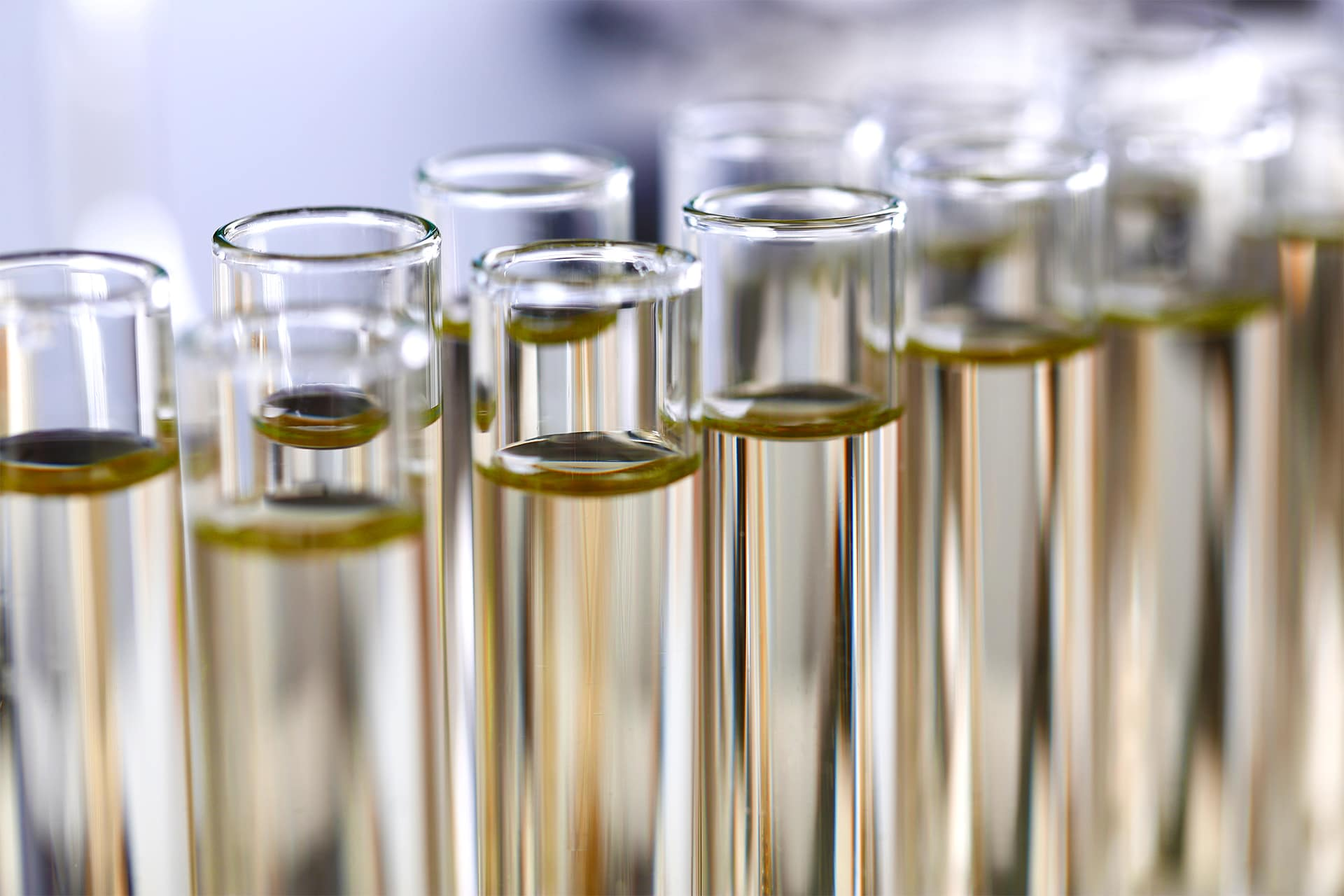 Difference between synthetic oil & conventional oil at Glen Toyota | Synthetic Oil in Test Tubes
