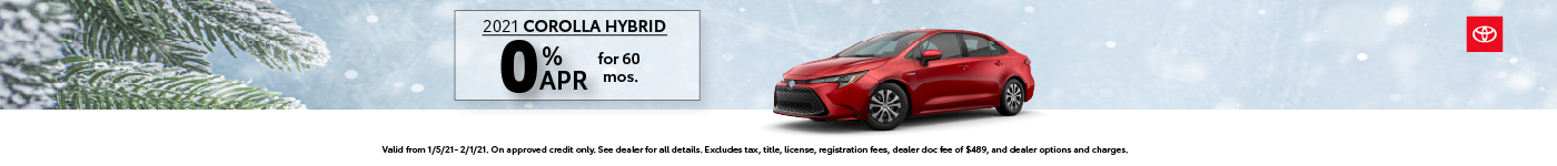 Corolla Hybrid Results Page Banner