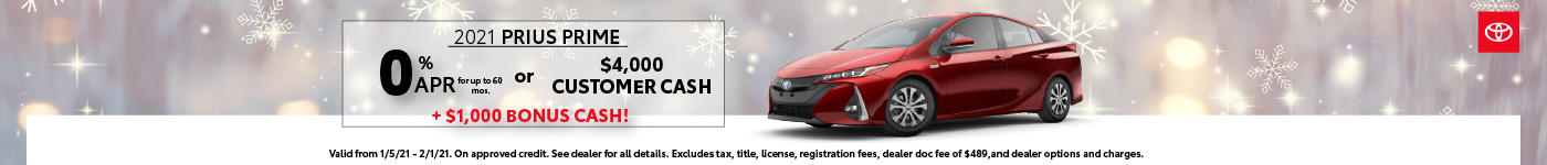 Prius Prime Results Page Banner