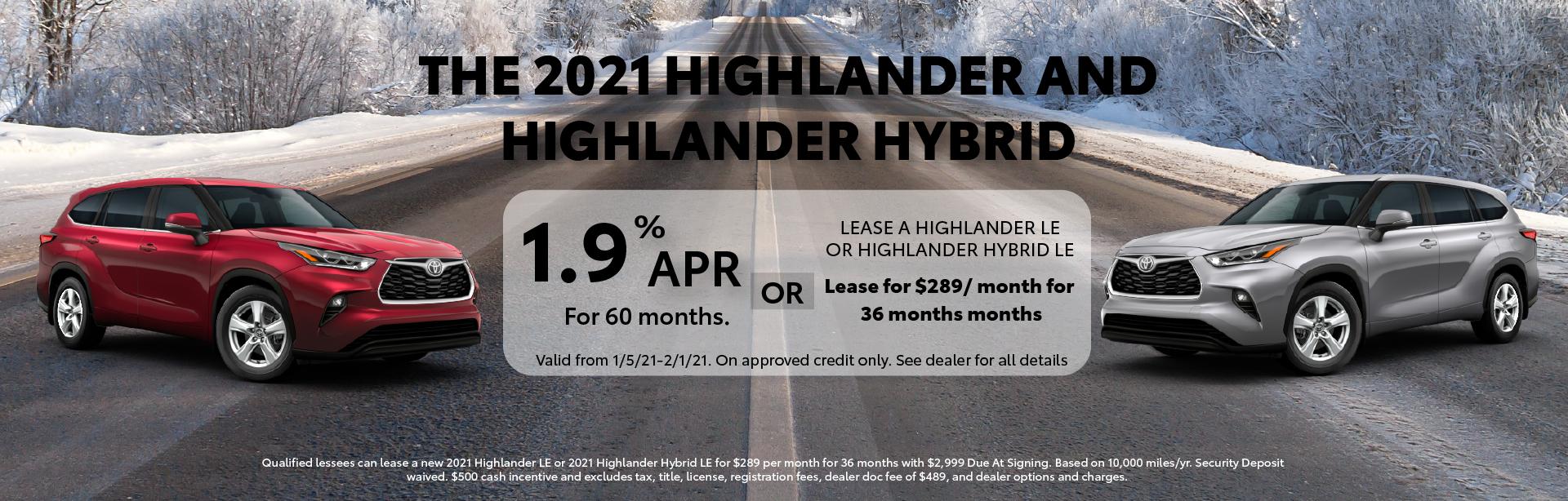 Highlander – Dealer Inspire Homepage – Glen Toyota