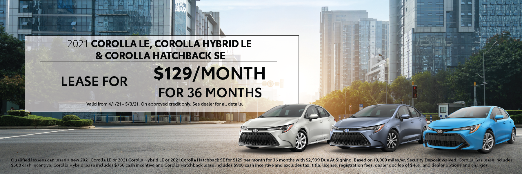 April 2021 – Corolla Family Offers – DDC VLP