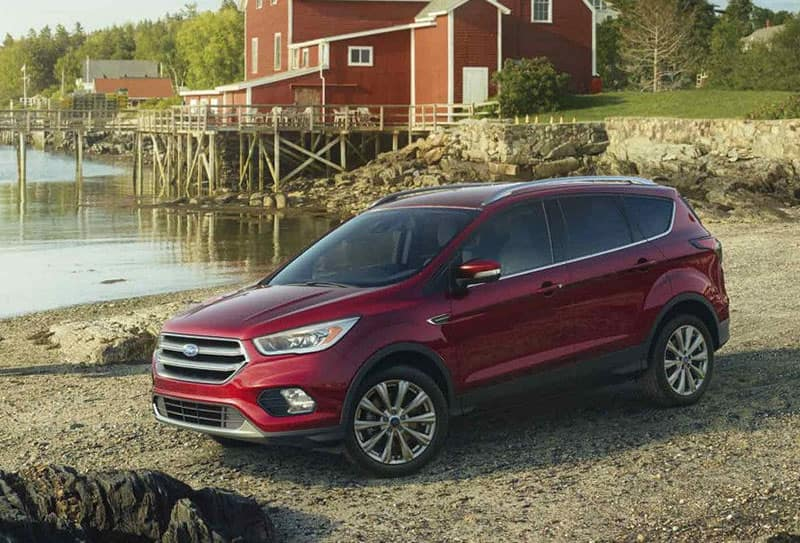 2018 Ford Escape Titanium in Ruby Red
