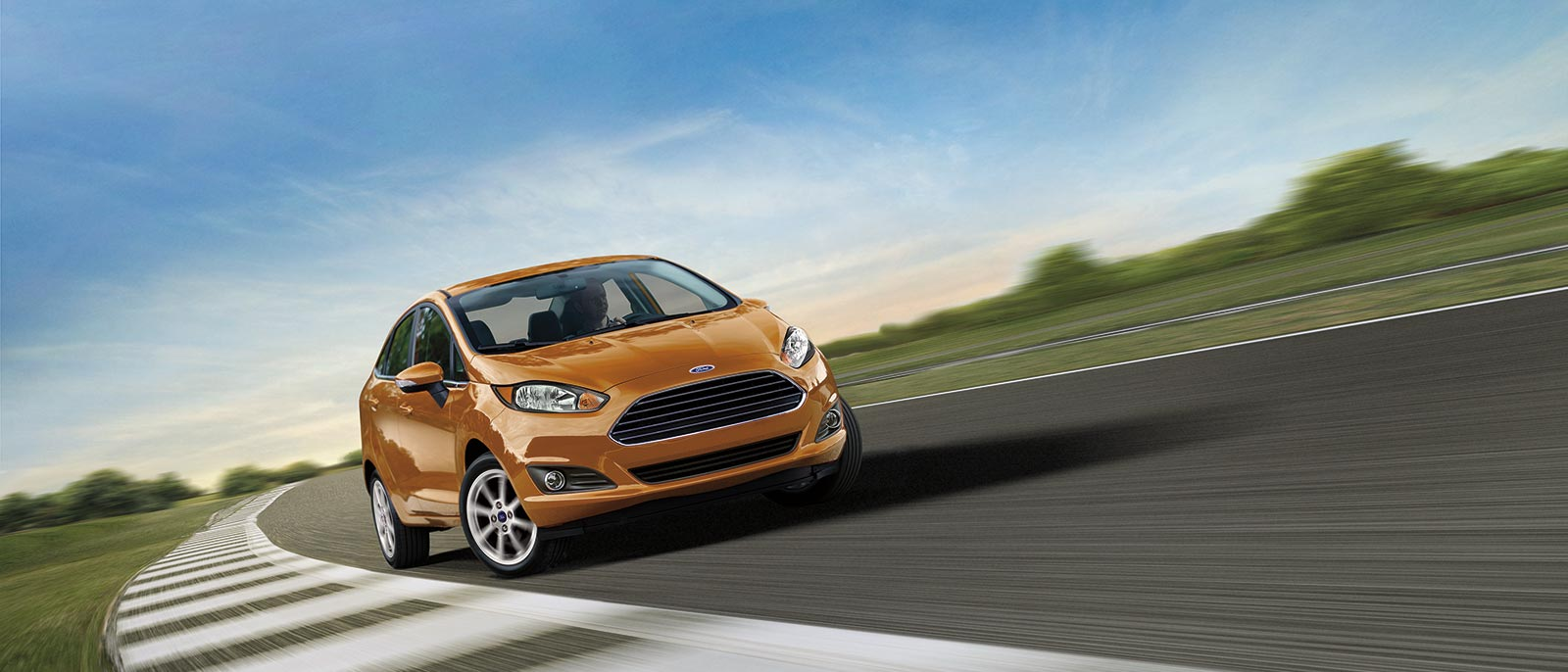 Orange Ford Fiesta