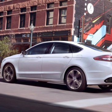 2017 Ford Fusion in White